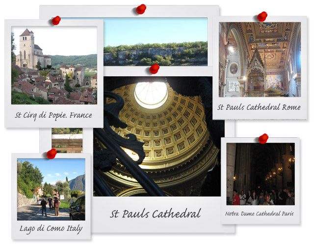 montage of Italian & French Tours